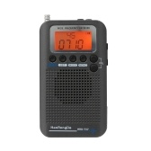 HanRongDa HRD-737 Portable Full Band Radio Aircraft Band Receiver FM/AM/SW/ CB/Air/VHF World Band with LCD Display Alarm Clock