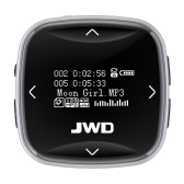 JWD JWM-101 8GB Sport MP3 Player Portable Audio Player FM Radio Voice Recording E-Book 0.96 Inches Screen with Headphones