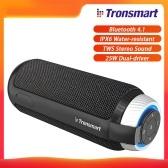 Tronsmart Element T6 Портативный динамик Bluetooth 4.1 IPX6 Водостойкий Превосходный 360 ° TWS Стереозвук Громкая связь 25 Вт Беспроводной динамик с двумя драйверами и глубоким басом для дома на улице