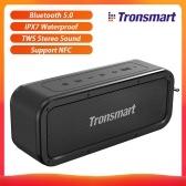 Tronsmart Element Force Bluetooth 5.0 Tragbarer Lautsprecher 40 W IPX7 Wasserdichter TWS-Stereo-Sound Drahtloser Lautsprecher 15 H Spielzeitunterstützung NFC / Voice Assistant / TF-Karte