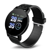 119plus 1.3in Intelligent Watches Heart Rate Monitoring Watch Sports Watches Wristband Waterproof Smartwatch