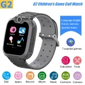 G2 Intelligent Kids Watch Children Smartwatch Built-in 7 Children Puzzle Games Phone Watch Built-in 5 Languages(English/French/German/Spanish/Italian)