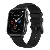 P8 Интеллектуальные часы 1,4-дюймовый цветной сенсорный экран Мониторинг сердечного ритма IPX7 Водонепроницаемый фитнес-браслет (черный)