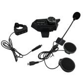 Cuffie per casco da moto Cuffie per moto Bluetooth 5.0 senza fili con microfono Supporta auricolari per casco con risposta automatica