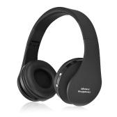 Casque Bluetooth Over-Ear Casque pliable sans fil et filaire sur l