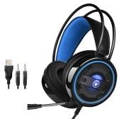Auriculares estéreo para juegos G60 Auriculares para juegos con graves envolventes para colocar sobre las orejas
