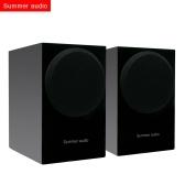 Summer Audio S3 Speaker 2.0-канальные пассивные стереофонические полочные колонки Hi-Fi с противоскользящим ковриком для домашней системы