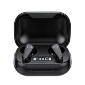 Беспроводные наушники BT 5.0, наушники-вкладыши, мини-бинауральные наушники с зарядным чехлом, спортивные наушники со светодиодным цифровым дисплеем