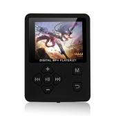 Цифровой плеер MP3 MP4 1,8 дюйма Цветной экран Музыкальный плеер Аудио-видео плеер без потерь Поддержка электронной книги FM-радио Запись голоса TF-карта Секундомер