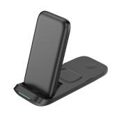 Chargeur sans fil 3 en 1 Support de charge sans fil Qi Remplacement du chargeur sans fil pliable pour Apple Watch Airpods Pro iPhone 12/11 / 11pro / X / XS / XR / Xs Max
