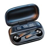 Fone de ouvido Lenovo QT81 Bluetooth 5.0 TWS Fone de ouvido sem fio verdadeiro Touch Control Caixa de carregamento de 750mAh Bateria Power Display Fone de ouvido esportivo à prova de suor com saída de microfone USB