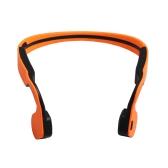 1 X alça de pescoço condução óssea Wireless Bluetooth Stereo Headset Bluetooth 4.0 impermeável do fone de ouvido mãos-livres para iPhone6 6Plus Samsung Galaxy HTC Tablet PC Laptop laranja