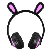ZW-19 Wireless Bluetooth Glowing Bunny Ear Headset with Mic