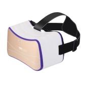 VRhappy V7 Виртуальная реальность очки Все в одной машине 2D / 3D Immersive гарнитура Смарт видео очки Android 4.4 1G / 16G 2.4G Wi-Fi BT 4.0 Intelligent Mobile Theater ж / USB Card TF порт Слот белый с золотом