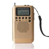 Rádio de bolso estéreo HRD-104 portátil AM / FM