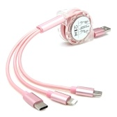 3 in 1 USB Charging Cable for Smart Phones and iPad 1m