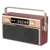 X5 Altoparlante portatile senza fili Bluetooth 5.0 20 W Altoparlante Sveglia Radio FM Lettore MP3 Supporto TF Card U Disco linea in display digitale