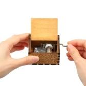 Vintage Wooden IMAGINE Theme Music Music Box