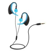 8GB MP3 Music Player IPX8 impermeável com fone de ouvido clip Design for Natação Correr Blue Diving com Black