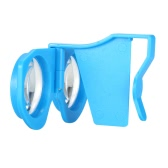 Dobrável Realidade Virtual Óculos 3D VR Óculos privada Cinema 3D para telefones Android iOS janelas inteligentes com 3,5 a 6,0 polegadas azuis