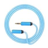 3,5 мм Jack Audio Cable 3,5 мм Мужской к женскому автомобилю Дополнительный аудио стерео кабель, синий