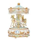 Mini carrousel Clockwork Castle dans la boîte à musique ciel coloré LED