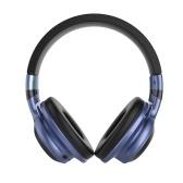 Éclairage LED Casque BT sans fil Sur-oreille Écouteurs Pliable Stéréo Micro-casque Prise en charge Carte TF Prise Audio FM