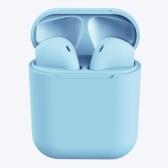 Inpods 12 Cuffie stereo wireless TWS HD Mini Smart Bluetooth 5.0 + Cuffie auricolari EDR