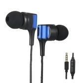 In-Ear-Kopfhörer Kabelgebundenes Headset 3,5-mm-Buchse Stereo-Kopfhörer Inline-Steuerung mit Mikrofon für Smartphone-Tablet-PC