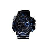 Мужские часы Спортивные электронные часы Классные светящиеся наручные часы Водонепроницаемые часы для улицы Большой экран Секундомер Будильник Ежечасный звонок