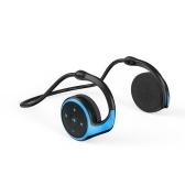 BT 5.0 Headset Lightweight Sports Headphone Support TF Card Playing FM Mode Hi-Fi Sound Effect Noise Reduction, Blue