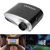 Second Hand HD LED Projector Full HD 1080P Home Cinema Theater Projection Machine Support PC Laptop Multimedia Player HD VGA USB AV  Port Enjoy Video Movie Game for Business Education Training & Home Entertainment Use