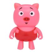 Mini Inteligente Robô Porco Sem Fio BT Caixa de Som Estéreo de Microfone Mãos-livres W / Mic Dança Robô Speaker para Crianças Bonitos Crianças Brinquedo de Presente