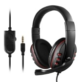 3.5mm Wired Gaming Over Ear Headset Noir et Rouge
