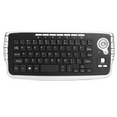 E30 2.4GHz teclado QWERTY sem fio com Trackball Mouse Silver