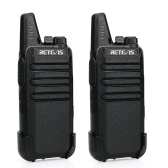2PCS Retevis RT622 Handheld Intercom Rechargeable Walkie Talkie UHF 400-480MHz 2W 16 Channels VOX PTT Civilian License-free Two-way Radio Set EU Plug