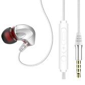 Écouteurs filaires S6 3,5 mm avec microphone