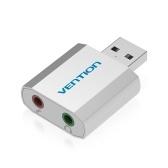 VENTION Mini Alliage D'aluminium USB Carte Son Externe USB à 3.5mm AUX Out Adaptateur Audio Pour Microphone Haut-Parleur PS4 Ordinateur Portable De Bureau
