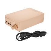Amplificateur de puissance audio numérique NIKKODO NK668 Bluetooth 5.0 Mini HiFi Récepteur audio Récepteur Prise en charge USB AUX double canal 60W + 60W avec câble d'alimentation