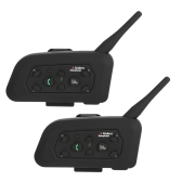 2 Sets V6-1200 Motorcycle Helmet Bluetooth Headset Intercom