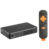 D09 Mini intelligent Projecteur DLP Android 4.4 RK3128 Quad-core 1G / 32G 2.4G / 5G WiFi 2000: 1 Rapport de contraste 5400mAh tactile Fonction Miracast Airplay avec télécommande TF Card USB HD EN US Plug