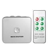 Captura EZCAP grabadora de audio Música Digitalizador con 3,5 mm y RCA en los puertos Guardar en la tarjeta SD de disco USB como archivos MP3 con mando a distancia enchufe de la UE