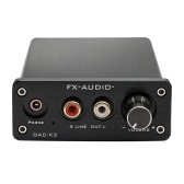 FX-AUDIO DAC-X3 Fiber USB Décodeur 24Bit 192 KHz DAC Casque Décodeur Audio Amplificateurs Soutien PC-USB Coaxial Optique Audio IN 3.5mm Écouteur OUT US Plug