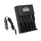 Soshine Universal Intelligent Battery Charger 4 Slots LCD Display for Li-ion LiFePO4 Ni-MH Ni-Cd Battery w/ Car Charger