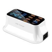 8 porte Caricabatterie rapido USB Adattatore display a LED Intelligente Potente ricarica rapida per viaggi domestici portatili