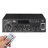 Amplificateur de puissance audio Lecteur MP3 Radio FM Récepteur audio numérique BT