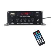 AK9 Lecteur audio numérique BT Amplificateur de puissance Affichage LCD Amplificateur BT Amplificateur Haut-parleur avec télécommande pour la maison de voiture