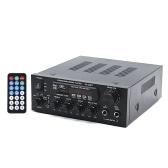 KS33BT Цифровой аудиоплеер BT Усилитель мощности ЖК-дисплей Усилитель BT Усилитель Динамик с пультом дистанционного управления для дома автомобиля