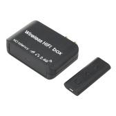 AY87 Transmissor Receptor de Áudio 2.4G Conversor de Áudio HIFI Sem Fio Sem Latência Adaptador Transceptor de Áudio