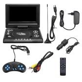 7.8 pouces 16: 9 écran large 270 ° écran LCD rotatif maison voiture TV lecteur DVD Portable VCD MP3 visionneuse avec fonction de jeu